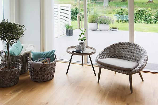 LEICESTER BORD Ø60 CM - Grå Beige - Utemöbler - Utebord - Soffbord