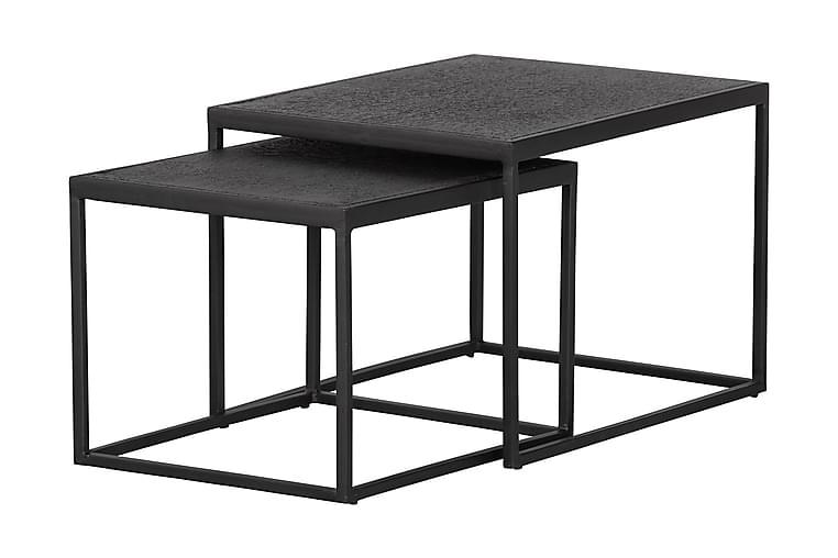 Soffbord Wiebe 60 cm - Svart - Utemöbler - Utebord - Loungebord