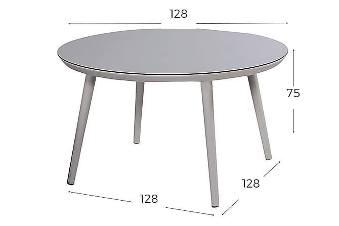 Matbord Carnarvon 128 cm Grå/Ljusgrå - Hartman - Utemöbler - Utebord - Matbord