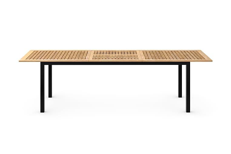 Matbord Las Vegas Förlängningsbart 220x280x100 cm - Svart/Teak - Utemöbler - Utebord - Matbord