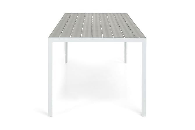 Matbord Tunis 205x90 cm - Vit|Grå - Utemöbler - Utebord - Matbord