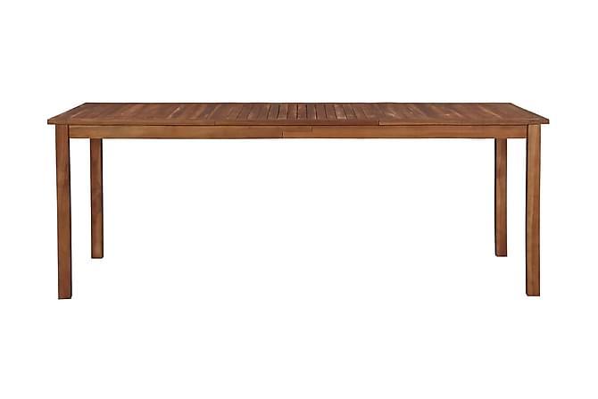 Trädgårdsbord 200x90x74 cm massivt akaciaträ - Brun - Utemöbler - Utebord - Matbord
