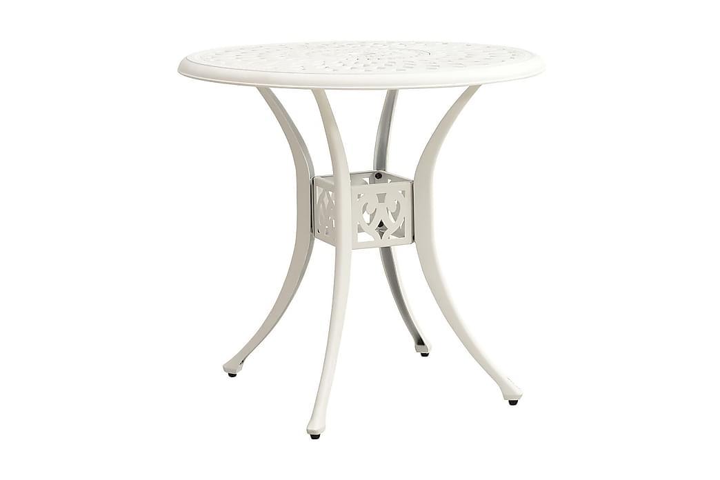 Trädgårdsbord vit 78x78x72 cm gjuten aluminium - Vit - Utemöbler - Utebord - Matbord