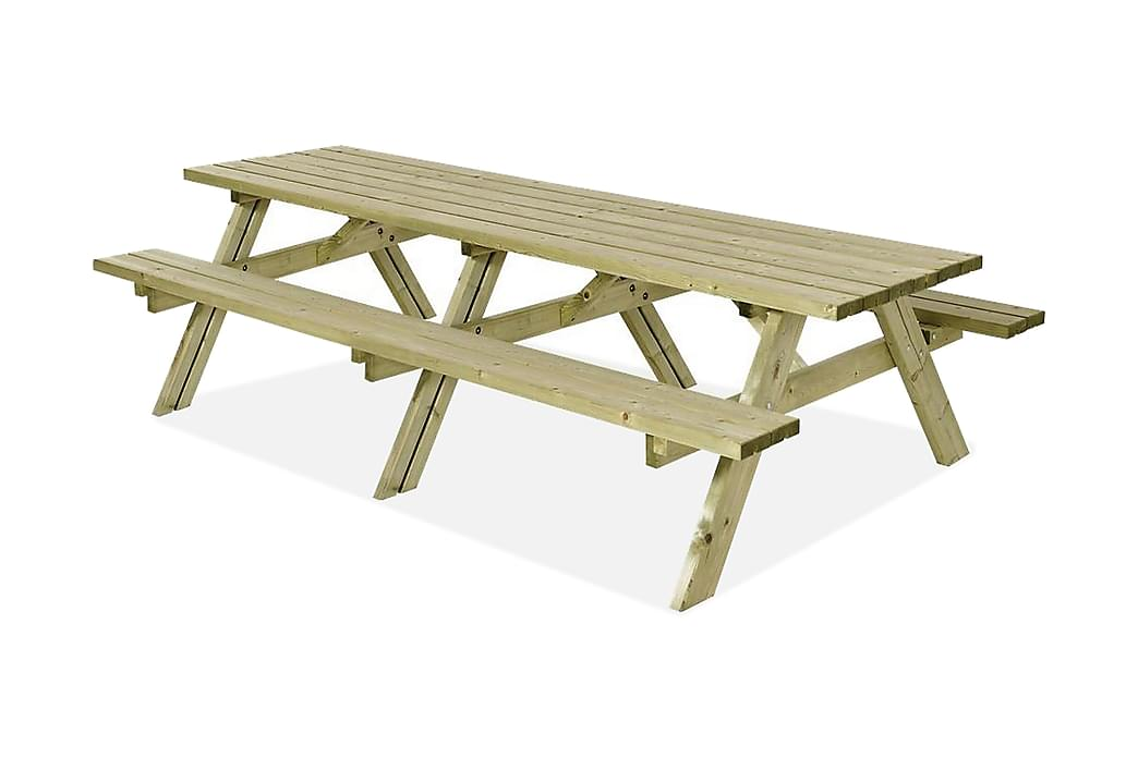 Kombimöbel 42 mm - B: 155 L: 300 H: 71 cm - Grå|Beige - Utemöbler - Välj efter material - Trä & teak