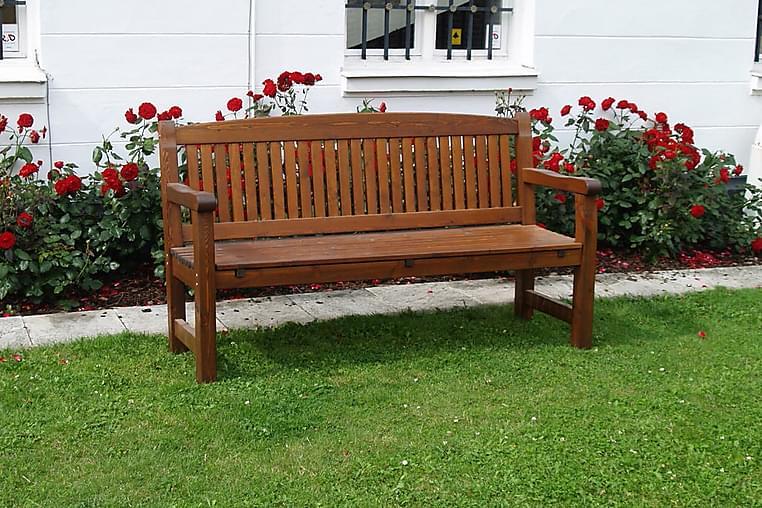 3-sits Soffa Kattvik Brun - Eden Wood - Utemöbler - Soffor & bänkar ute - Trädgårdssoffor
