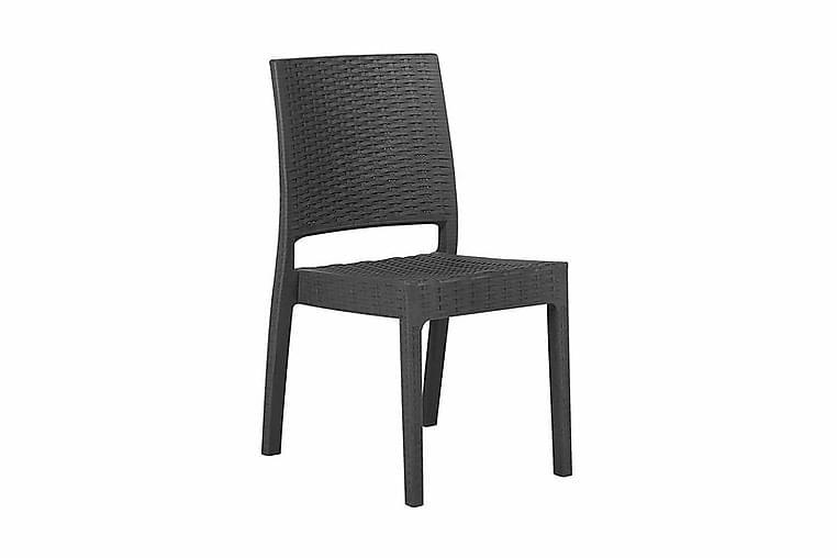Trädgårdsstol Valderamo 2-Pack - Grå - Utemöbler - Stolar & Fåtöljer ute - Caféstolar