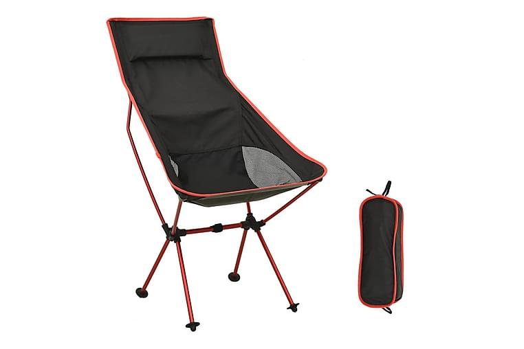 Hopfällbart campingbord PVC och aluminium svart - Svart - Utemöbler - Stolar & Fåtöljer ute - Matstolar
