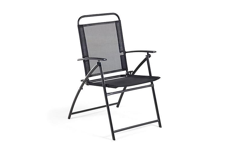 Trädgårdsstol 4 St Livo 66 cm - Svart - Utemöbler - Stolar & Fåtöljer ute - Matstolar