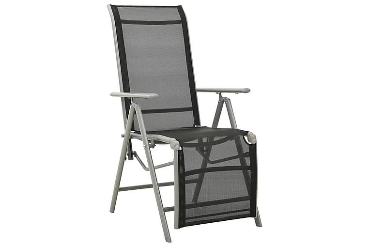 Trädgårdsstol justerbara textilen och aluminium silver - Silver - Utemöbler - Stolar & Fåtöljer ute - Matstolar
