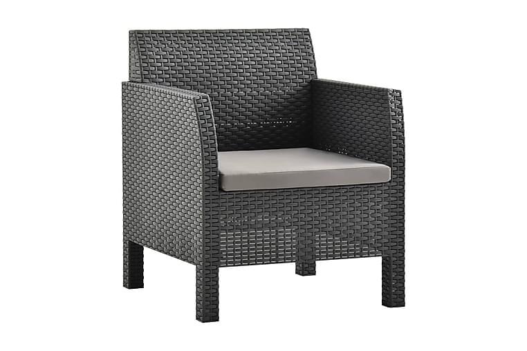 Trädgårdsstol med dyna PP antracit - Antracit - Utemöbler - Stolar & Fåtöljer ute - Positionsstolar