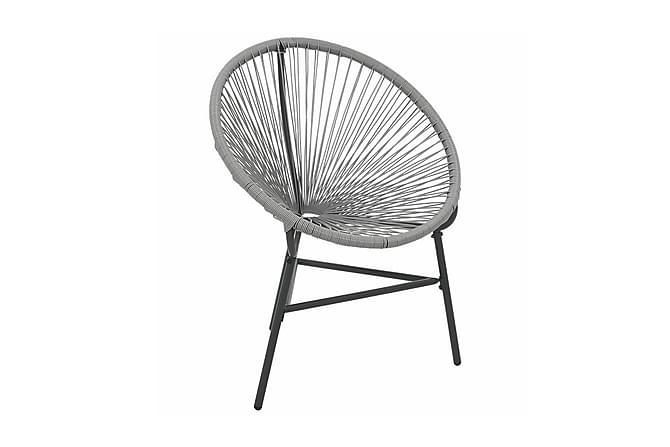 Månstol för trädgården konstrotting grå - Grå - Utemöbler - Stolar & Fåtöljer ute - Utefåtöljer